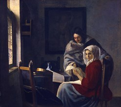 Girl interrupted at her music, c. 1660. Artist: Vermeer, Jan (Johannes) (1632-1675)