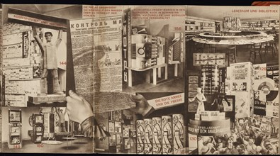 USSR. Catalogue of the Soviet pavilion at the International Press Exhibition, Cologne, 1928. Artist: Lissitzky, El (1890-1941)