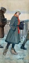 The Way to Work, 1926. Artist: Buchholz, Fyodor Fyodorovich (1857-1942)