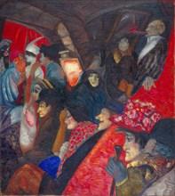 Cabaret Black Cat, 1913. Artist: Grigoriev, Boris Dmitryevich (1886-1939)