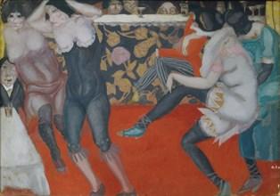 In the Cabaret, 1913. Artist: Grigoriev, Boris Dmitryevich (1886-1939)