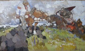 Mikula Selyaninovich, 1917. Artist: Vasnetsov, Viktor Mikhaylovich (1848-1926)