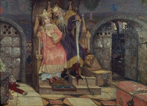 Koschei the Immortal, 1917-1926. Artist: Vasnetsov, Viktor Mikhaylovich (1848-1926)