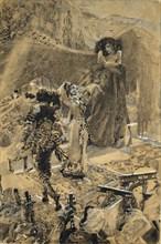 Tamara's Dance. Illustration to the poem The Demon by Mikhail Lermontov, 1890-1891. Artist: Vrubel, Mikhail Alexandrovich (1856-1910)