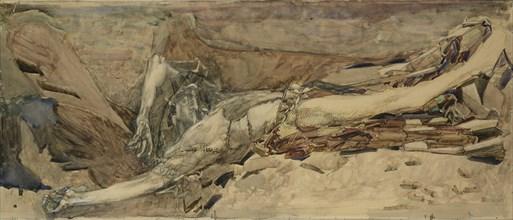 The Demon downcast, 1901. Artist: Vrubel, Mikhail Alexandrovich (1856-1910)