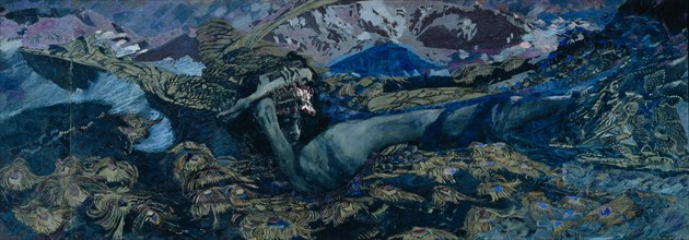The Demon downcast, 1902. Artist: Vrubel, Mikhail Alexandrovich (1856-1910)