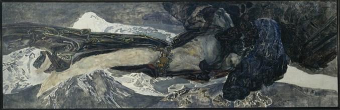 Flying Demon, 1899. Artist: Vrubel, Mikhail Alexandrovich (1856-1910)