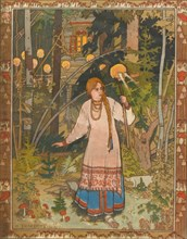 Vasilisa the Beautiful (Illustration to the book Vasilisa the Beautiful), 1900. Artist: Bilibin, Ivan Yakovlevich (1876-1942)