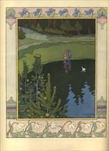 Illustration to the fairytale The White Duck, 1902. Artist: Bilibin, Ivan Yakovlevich (1876-1942)