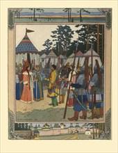 Illustration for the Fairy tale Marya Morevna, 1901. Artist: Bilibin, Ivan Yakovlevich (1876-1942)