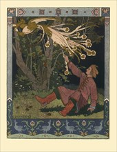 Illustration for the Fairy tale of Ivan Tsarevich, the Firebird, and the Gray Wolf, 1902. Artist: Bilibin, Ivan Yakovlevich (1876-1942)