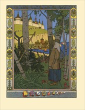 Illustration for the Fairy tale The Feather of Finist the Falcon, 1901-1902. Artist: Bilibin, Ivan Yakovlevich (1876-1942)