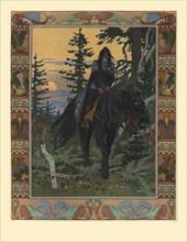 Illustration for the Fairy tale of Vasilisa the Beautiful and White Horseman, 1900. Artist: Bilibin, Ivan Yakovlevich (1876-1942)