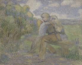The Kiss, 1897. Artist: Borisov-Musatov, Viktor Elpidiforovich (1870-1905)
