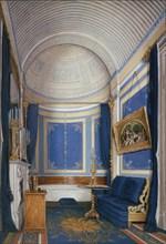 Interiors of the Winter Palace. The Bathroom of Empress Maria Alexandrovna, 1850s. Artist: Hau, Eduard (1807-1887)
