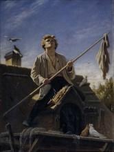 A pigeon fancier, 1874. Artist: Perov, Vasili Grigoryevich (1834-1882)