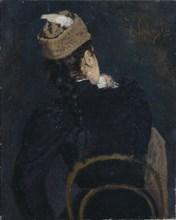 A Girl Student, 1890s. Artist: Savitsky, Konstantin Apollonovich (1844-1905)
