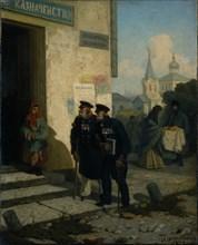 The Pension Day, 1878. Artist: Solomatkin, Leonid Ivanovich (1837-1883)