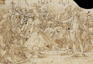 Minuet, c. 1780. Artist: Casanovas Torrents, Antonio (1752-1796)