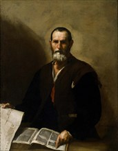 Philosopher Crates of Thebes, 1636. Artist: Ribera, José, de (1591-1652)