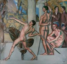 Mens sana in corpore sano (A healthy mind in a healthy body), 1912. Artist: Pauli, Georg (1855-1935)