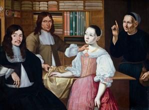 In the Draper's Shop, 1670. Artist: Bloemen, Adriaen van (active 1654-1694)