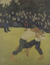 Breton Wrestling, 1890-1891. Artist: Sérusier, Paul (1864-1927)