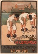 VII Federal Gymnastics Competition, 1907. Artist: Carpanetto, Giovanni Battista (1863-1928)
