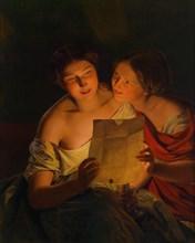 Love letter. Artist: Waldmüller, Ferdinand Georg (1793-1865)
