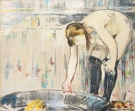 Femme au tub. Artist: Manet, Édouard (1832-1883)