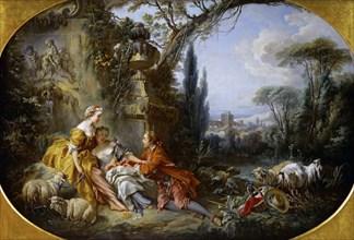 Les Charmes de la vie champêtre (Delights of country life). Artist: Boucher, François (1703-1770)