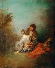 Le Faux Pas (The Mistaken Advance). Artist: Watteau, Jean Antoine (1684-1721)