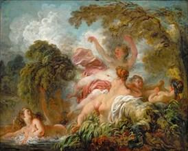 Bathers (Les baigneuses). Artist: Fragonard, Jean Honoré (1732-1806)