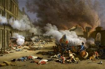 """Bertaux, """"Prise du palais des Tuileries, 10 août 1792"""""""