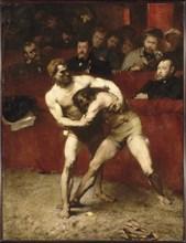 Wrestlers. Artist: Falguière, Alexandre (1831-1900)