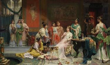 Toilette of a Roman Lady. Artist: Giménez Martín, Juan (1855-1901)