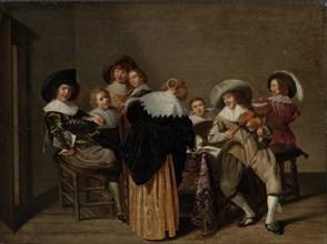A Musical Party. Artist: Hals, Dirck (1591-1656)