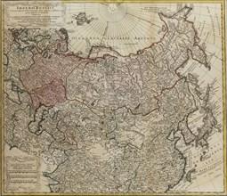 Map of Russia (From: Imperii Russici et Tartariae universae tam majoris et Asiaticae quam minoris et Artist: Hase, Johann Matthias (1684-1742)