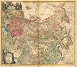 Map of Russia (From: Imperii Russici et Tartariae universae tam majoris et Asiaticae quam minoris et Artist: Homann, Johann Baptist (1663-1724)