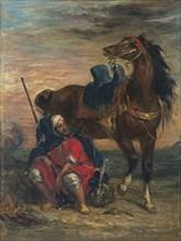 Arab Rider. Artist: Delacroix, Eugène (1798-1863)
