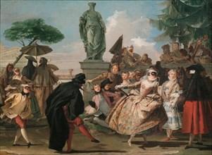 The Minuet. Artist: Tiepolo, Giandomenico (1727-1804)