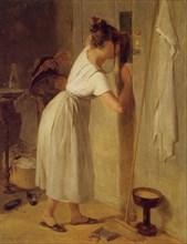 Sneaking a peek. Artist: Fendi, Peter (1796-1842)