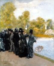 The Pool in the Jardin du Luxembourg. Artist: De Nittis, Giuseppe (1846-1884)