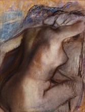 After the Bath, Woman Drying Herself. Artist: Degas, Edgar (1834-1917)