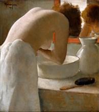Woman Washing. Artist: Rassenfosse, Armand (1862-1934)