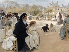 The Luxembourg Gardens, Paris. Artist: Edelfelt, Albert Gustaf Aristides (1854-1905)