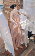 The Pink Robe. After the Bath. Artist: Sorolla y Bastida, Joaquín (1863-1923)