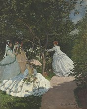 Ladies in the garden. Artist: Monet, Claude (1840-1926)