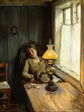 Tired. Artist: Krohg, Christian (1852-1925)