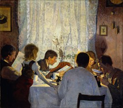 Breakfast II. Morning mood. Artist: Wentzel, Gustav (1859-1927)